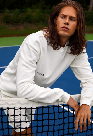 Crewneck sweatsuit with shorts - S, White