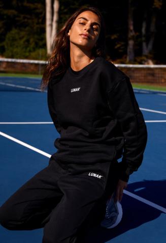 Crewneck sweatsuit with pants - L, Black