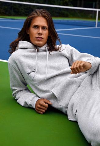 Hoodie sweatsuit with pants - S, Grey