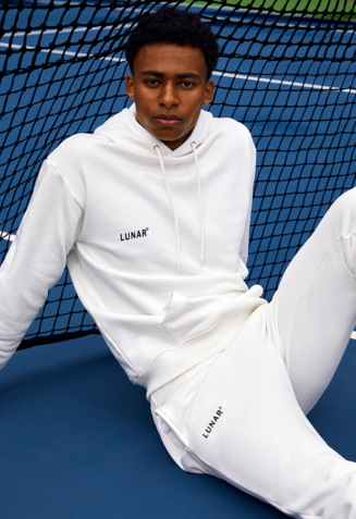 Hoodie sweatsuit with pants - S, White